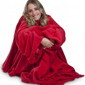 Get-Smart-moteriskas-raudonas-pledas-su-rankovemis-nr1
